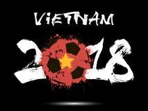 Número abstrato 2018 e mancha da bola de futebol Imagens de Stock