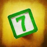 Número afortunado siete Foto de archivo libre de regalías