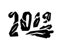 Número angular 2019 do Grunge Ilustração do vetor Fotos de Stock Royalty Free