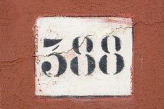 Número cívico velho Imagem de Stock Royalty Free