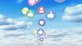 Número cada vez mayor de red social de los medios metrajes
