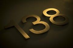 Número ciento treinta y ocho Imágenes de archivo libres de regalías