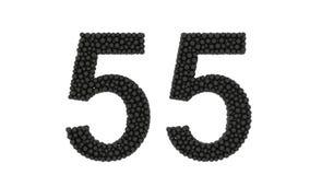 Número cincuenta y cinco sobre blanco stock de ilustración