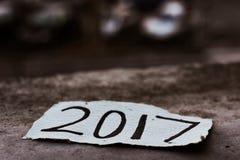Número 2017, como el año del cortar Fotos de archivo