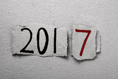 Número 2017, como el Año Nuevo Imagen de archivo