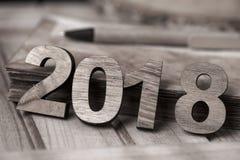 Número 2018, como o ano novo Fotos de Stock