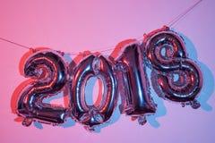 Número 2018, como o ano novo Imagens de Stock Royalty Free