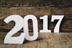 Número 2017, como o ano novo Fotos de Stock Royalty Free