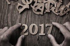 Número 2017, como o ano novo Fotografia de Stock