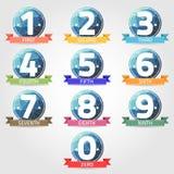 Número con la etiqueta del polígono Fotos de archivo libres de regalías