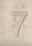 Número concreto Imagenes de archivo