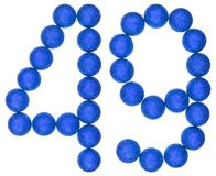 Número 49, cuarenta y nueve, de las bolas decorativas, aisladas en blanco Fotos de archivo