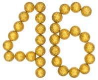 Número 46, cuarenta y seis, de las bolas decorativas, aisladas en blanco Imagen de archivo
