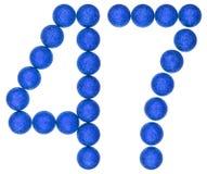 Número 47, cuarenta y siete, de las bolas decorativas, aisladas en pizca Foto de archivo