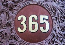 número 365 (días en un símbolo del año) Imagen de archivo