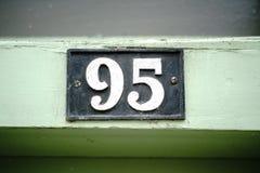 Número da casa 95 Imagens de Stock