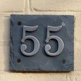 Número da casa 55 Foto de Stock Royalty Free
