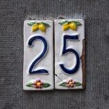 Número da casa 25 fotos de stock