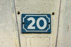 Número da casa 20 imagem de stock royalty free