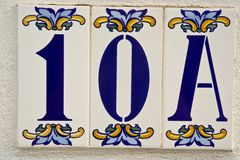 Número da casa Foto de Stock