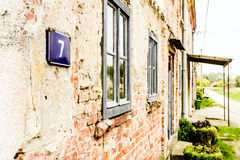 Número da casa 7 Imagem de Stock Royalty Free