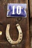 Número da casa fotografia de stock
