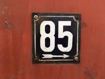 Número da casa 85 Imagens de Stock