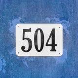 Número da casa 504 foto de stock royalty free