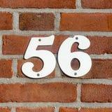 Número da casa 56 imagens de stock royalty free