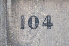 Número da casa 104 imagens de stock royalty free