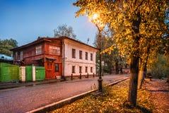 Número da casa 77 na rua de Sovetskaya em Plios Imagem de Stock Royalty Free