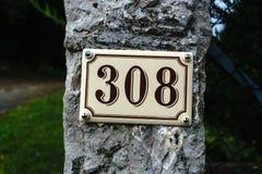 Número da casa 308 fotos de stock