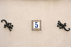 Número da rua da casa foto de stock