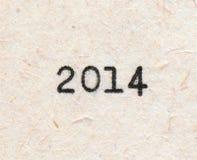 número de 2014 años Imágenes de archivo libres de regalías