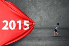 Número de arrasto 2015 do empresário latino-americano Imagem de Stock Royalty Free