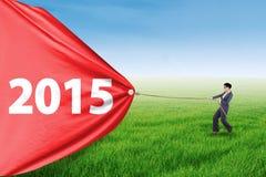 Número de arrasto 2015 do trabalhador latino-americano Foto de Stock Royalty Free