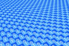 Número de código binário azul do bloco fotografia de stock