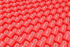 Número de código binário vermelho do bloco imagens de stock royalty free