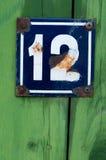 Número de casa Imágenes de archivo libres de regalías