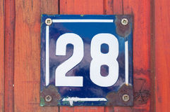 Número de casa Imagen de archivo