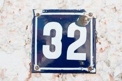 Número de casa Imagen de archivo libre de regalías