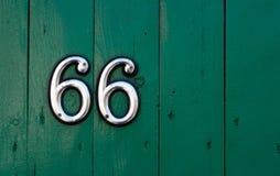 Número de casa Foto de archivo