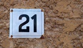 Número de casa Fotos de archivo libres de regalías