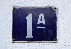Número de casa fotografía de archivo