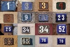 Número de casa Imagenes de archivo