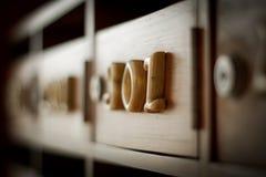 Número de cinzeladura de madeira três zero uns Imagem de Stock Royalty Free