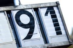 Número de dos dígitos Fotos de archivo
