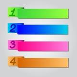 Número de estilo colorido de Origami stock de ilustración