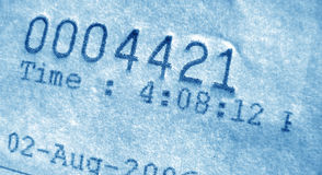 Número de factura Imagen de archivo
