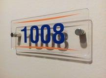 Número de habitación Fotografía de archivo libre de regalías